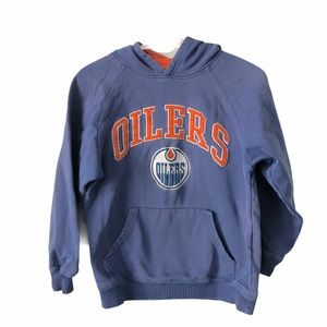 Reebok Oilers NHL Quality Hockey Hoodie Warm 10-12